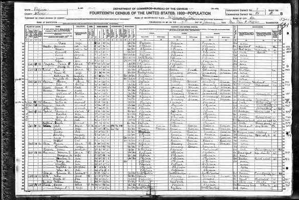 Gertrude Fanny Bowman 1920 census