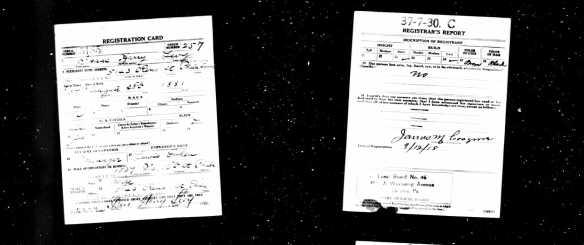 "Isaac ""Harry"" Levy draft registration World War I"