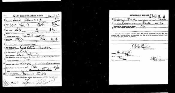 Lewis Cohen World War I draft registration