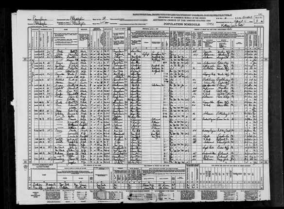 Jonas, Jr. and Sally Cohen 1940 census