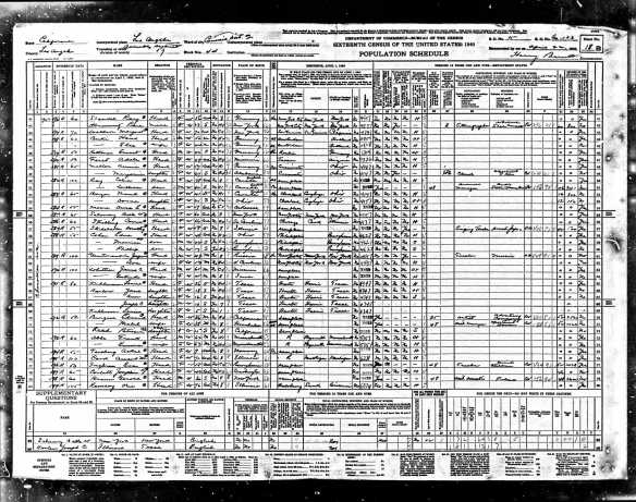 Edna Cohen and sons 1940 census