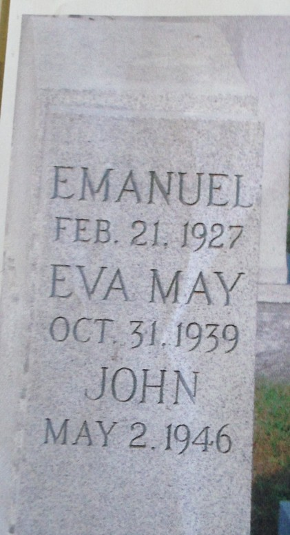headstone for emanuel, eva and john n cohen