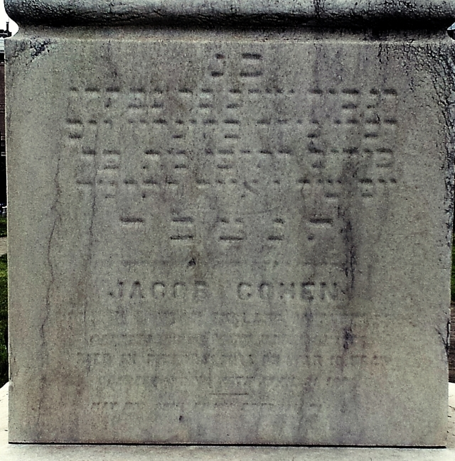 Jacob Cohen headstone cropped and enhanced