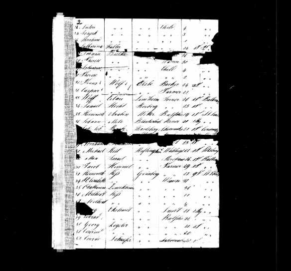 Jacob Himmel ship manifest