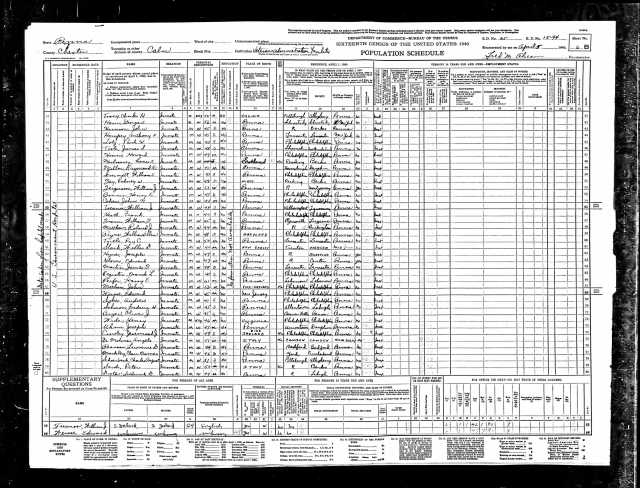 John Cohen, Sr. 1940 census