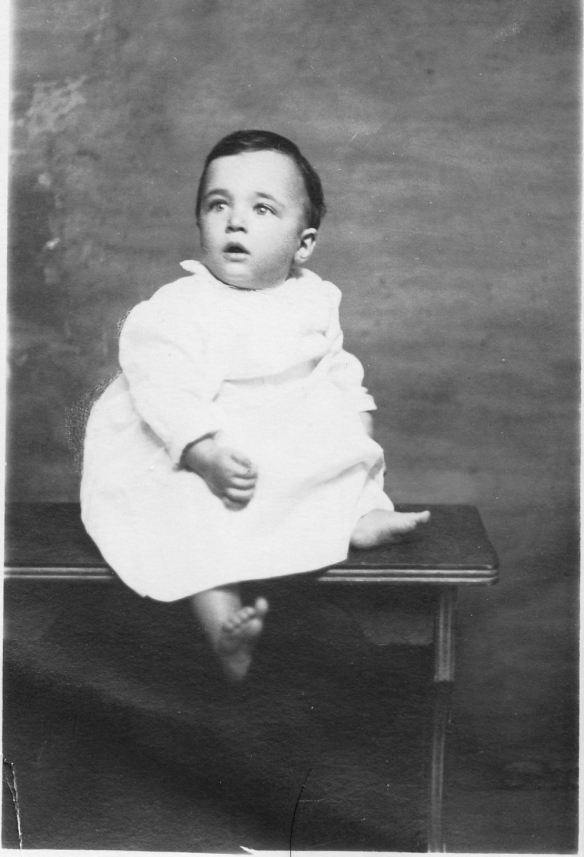 My father at 9 months old