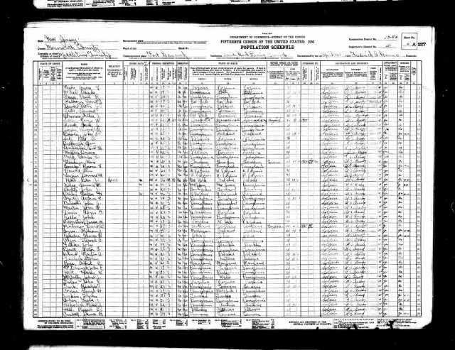 Leslie Cohen 1930 census