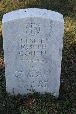 Leslie Joseph Cohen headstone