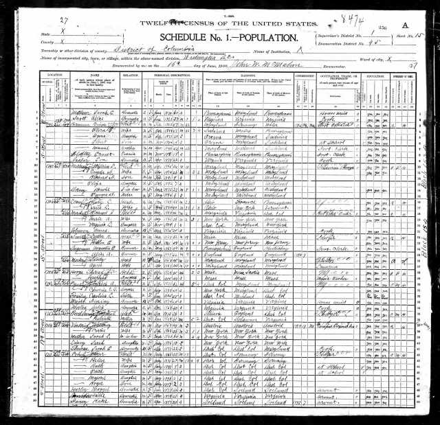 Myer Cohen Sr. 1900 census