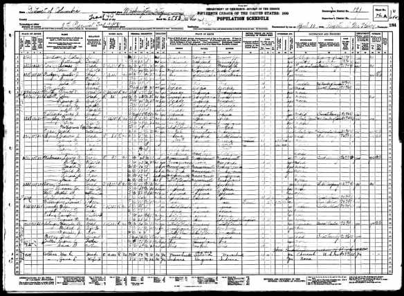 Maurice Selinger and family 1930 census