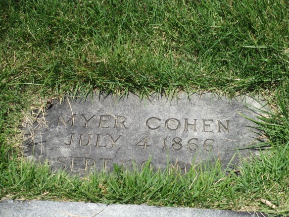Myer Cohen, Sr. headstone