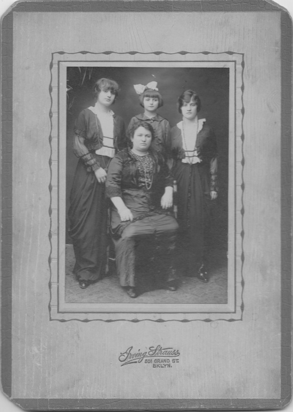 Ida Lutsky, rear center, with her sisters