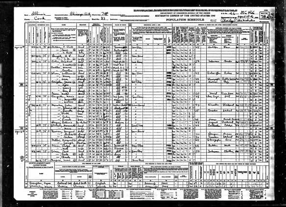 Isadore Baer Cohen and family 1940 census