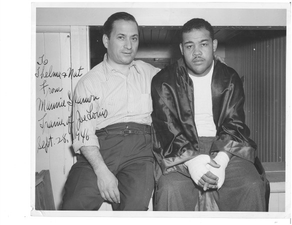 Manny Seamon and Joe Louis
