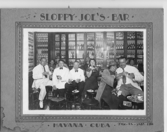 Mervyn, Sr. (far left) and Anne (center) in Havana, 1937