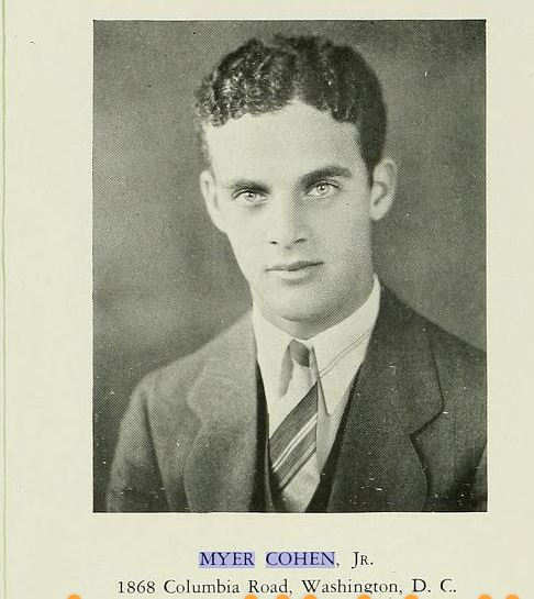 Myer Cohen Jr 1929 Halcyon yearbook