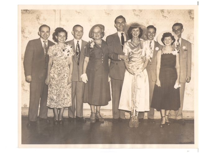 Wedding of Paul Seamon and Marilyn Tobetsky 1949