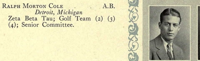 1928 University of Michigan yearbook Ancestry.com. U.S. School Yearbooks [database on-line]. Provo, UT, USA: Ancestry.com Operations, Inc., 2010.