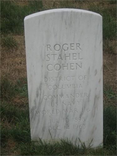 Roger Stahel Cohen headstone