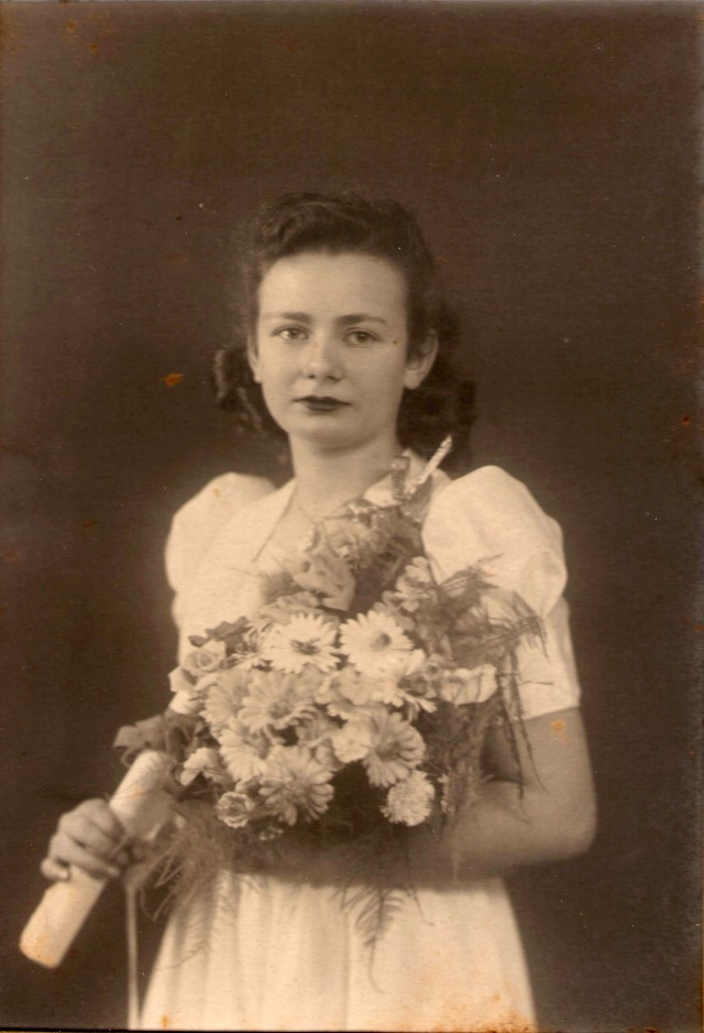Thelma Graduation photo 1946