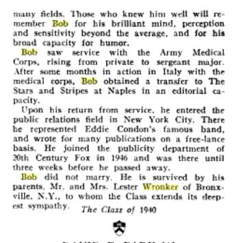 Wronker princeton death notice pt 2