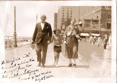 Arthur Seligman, Marjorie, and Eva May Cohen, 1932 Atlantic City