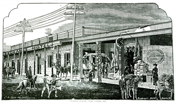 etching of santa fe