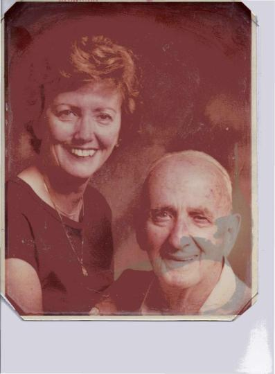 Marjorie and her father Stanley 1981