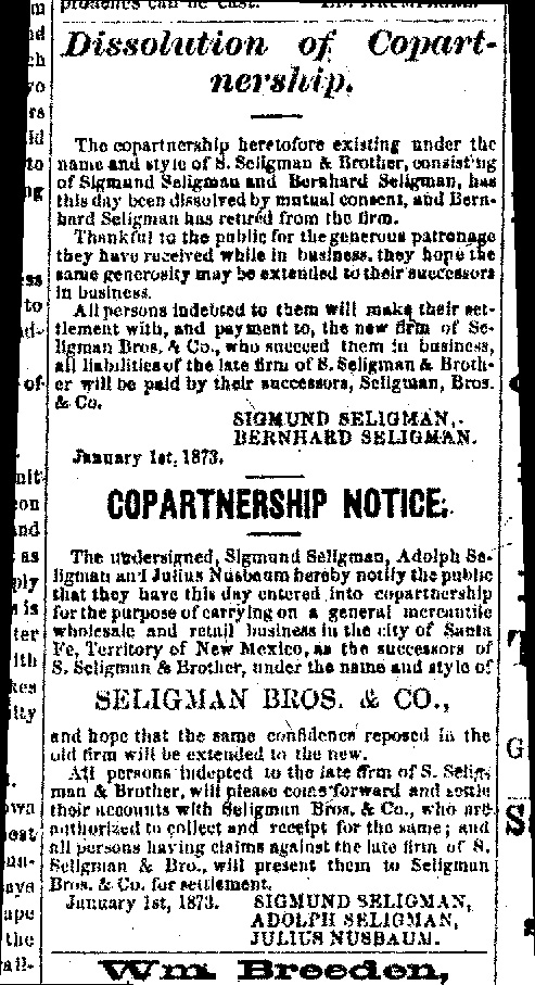Daily New Mexican, January 13, 1873