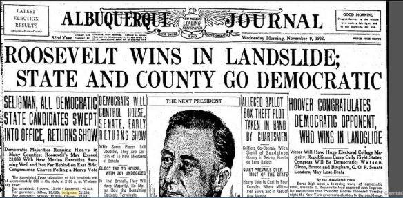 1932 headline