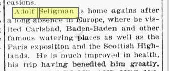 adolf 1894 europe trip