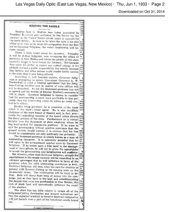 Anti Seligman as Senator editorial-page-001