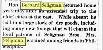 bernard trip back east 1889