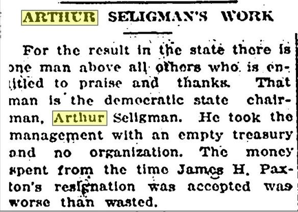 democratic state chair praised 1916