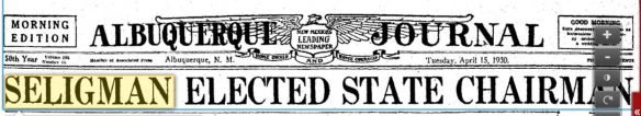 headline elected state chairman april 1930