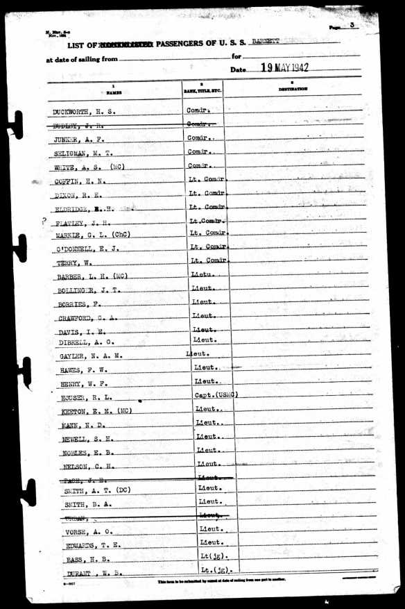 Morton Seligman on the USS Barnett National Archives at College Park; College Park, Maryland, United States; Muster Rolls of U.S. Navy Ships, Stations, and Other Naval Activities, 01/01/1939 - 01/01/1949; Record Group: 24, Records of the Bureau of Naval Personnel, 1798 - 2007; Series ARC ID: 594996; Series MLR Number: A1 135