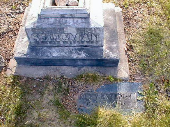 Ruth V.B. Stevenson Seligman headstone  http://www.findagrave.com/cgi-bin/fg.cgi?page=gr&GSln=Seligman&GSiman=1&GScid=38062&GRid=114937258&