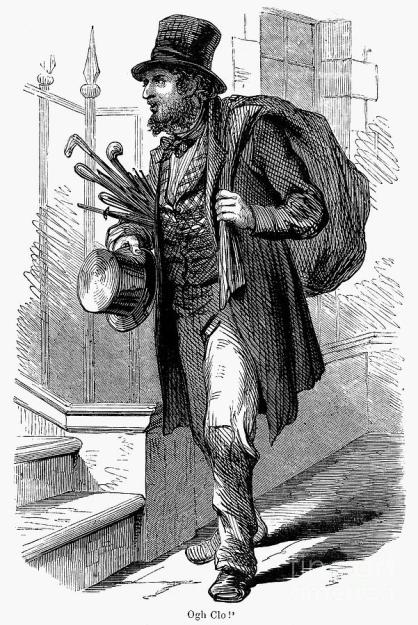 19th century etching of a peddler by Granger found at http://fineartamerica.com/featured/1-peddler-19th-century-granger.html