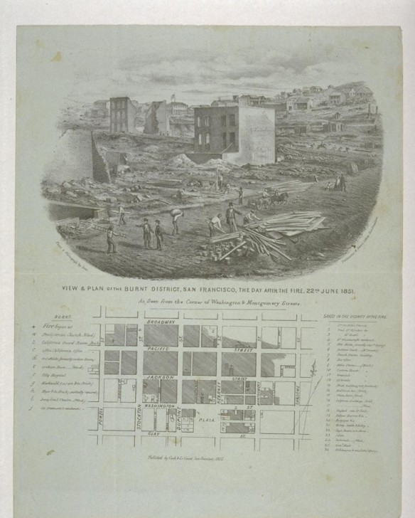 1851 after fire Berkely site