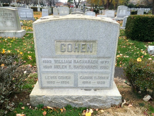 Bacharach and Cohen headstone