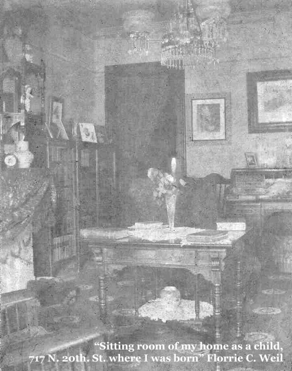 Florrie C Weil sitting room as a child