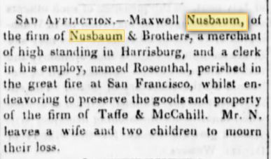 Sunbury (PA) American,  July 5, 1851, p. 2
