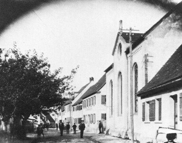 Schopfloch synagogue 1910 Source: Wallersteiner Kalendar, 1983 found at http://www.alemannia-judaica.de/schopfloch_synagoge.htm