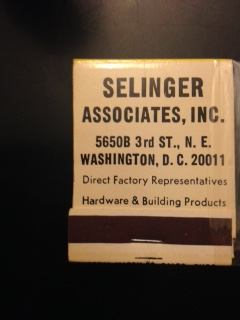 Selinger matches cover
