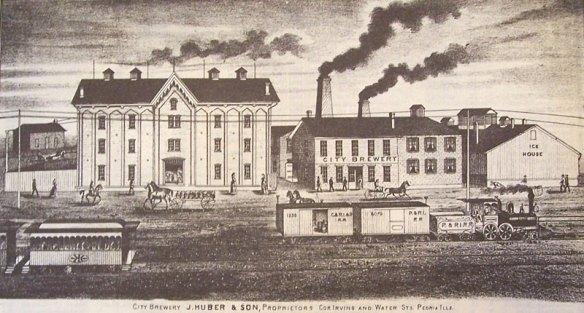 Peoria Brewery 1873 http://www.peoriacountyillinois.info/photos/1873_peocitybrewery.jpg