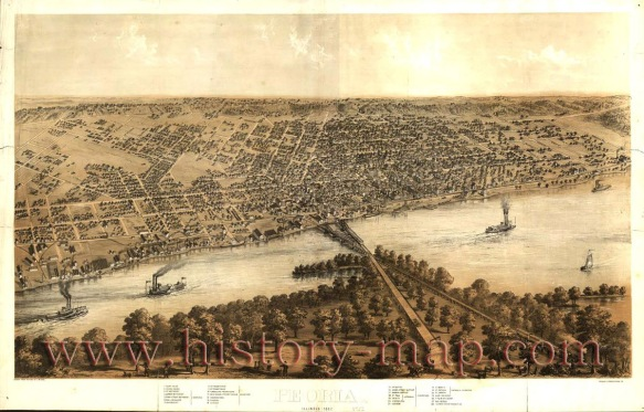 Peoria, Illinois 1867 http://www.history-map.com/picture/004/Illinois-Peoria.htm