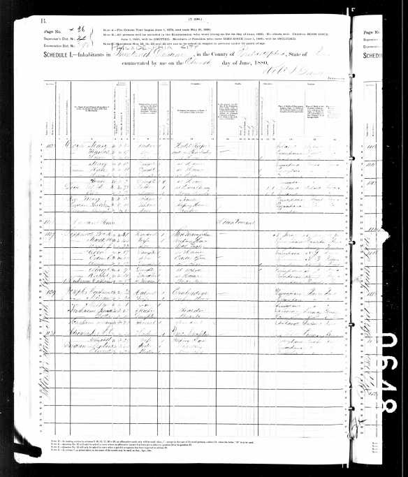 Jeanette Nusbaum 1880 US census in Philadelphia
