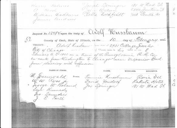 Adolph Nusbaum coroner's report