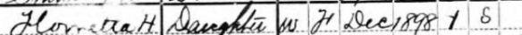 Florette Hinlein 1900 census
