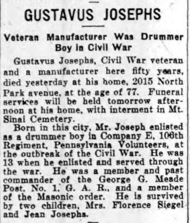Philadelphia Inquirer May 25, 1924 p. 18